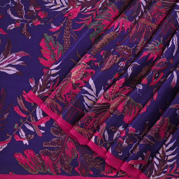 Violet Printed Saree