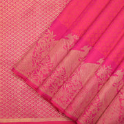 Punch pink Kanchipuram silk saree