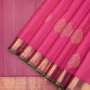 Elegant Pink Kanchipuram pure silk saree