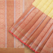 Pastel Yellow Benarasi Tussar Saree
