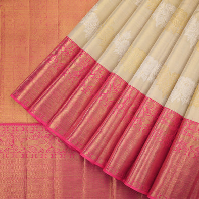 Gold beige tissue saree