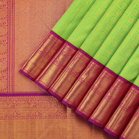 Lime Green Bridal Kanjivaram Silk