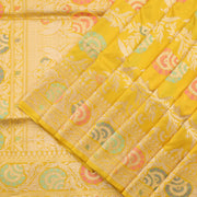 Daisy Yellow Banarasi Silk Saree