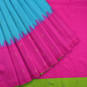 Sky blue gadwal silk saree