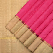 Rose pink and beige Kanchipuram silk saree