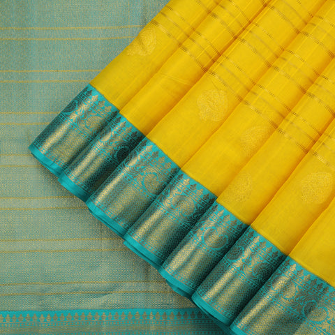 Sunflower Yellow Kanjivaram Silk Saree