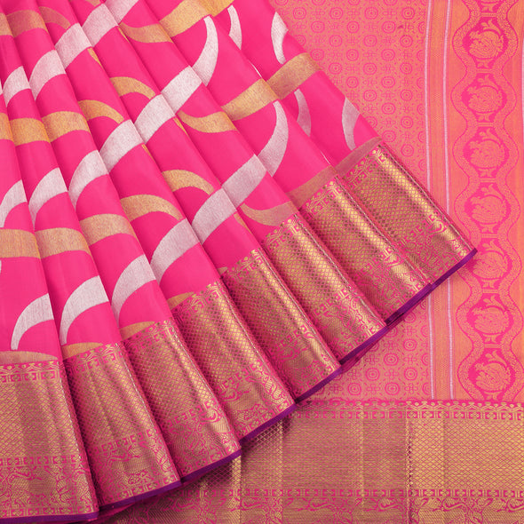 Shocking pink bridal kanjivaram saree