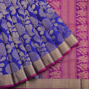 Royal Blue-Purple Soft Silk Saree
