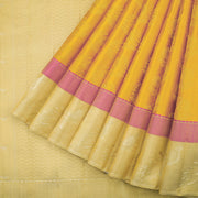 Golden yellow pure silk saree