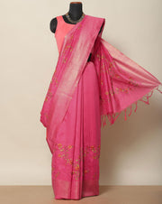 Punch pink semi tussar saree