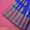 Royal blue kanjivaram silk saree