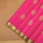 Magenta pink Kanchipuram silk saree