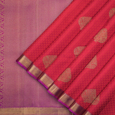 Pure zari Kanchipuram silk jacquard saree