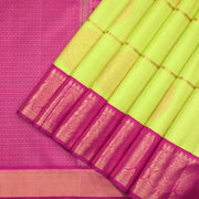 Lime green Kanchipuram silk saree