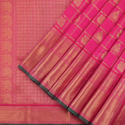 Ruby Pink Kanjivaram Bridal Silk Saree