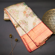 Silver and Gold tissue kanjeevaram silk saree