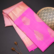 Two tone pink designer silk saree