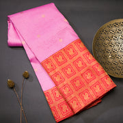 Party pink kanjivaram silk saree