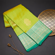 Two tone green designer silk saree