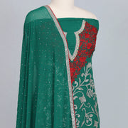 Rama Green georgette designer silk unstitched suit