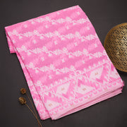 Neon pink dhakai cotton saree