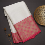 Silver tissue cotton saree