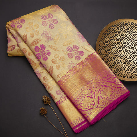 Gold tissue saree