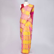 Multicolour pure Kanjeevaram silk saree