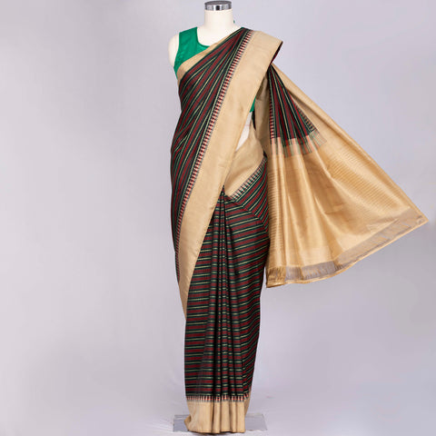 Black pure Kanjeevaram silk saree