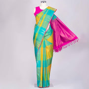 Multicolour Kanjeevaram silk saree