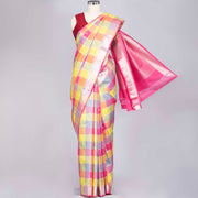 Multicolour designer silk saree