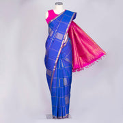 Royal Blue pure Kanjeevaram silk saree