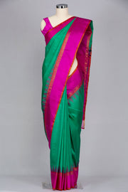 Rama green pure kanjeevaram silk saree