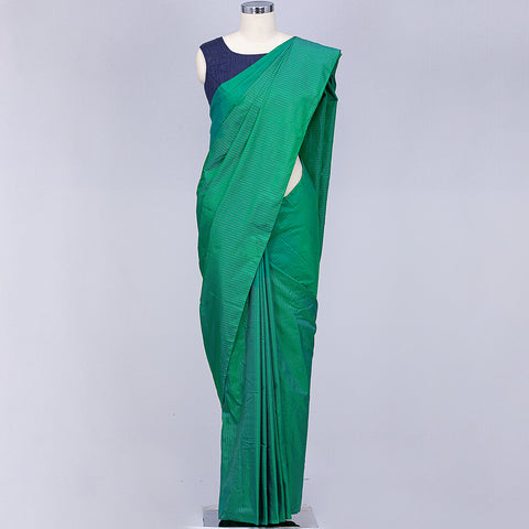 Jade green art silk saree