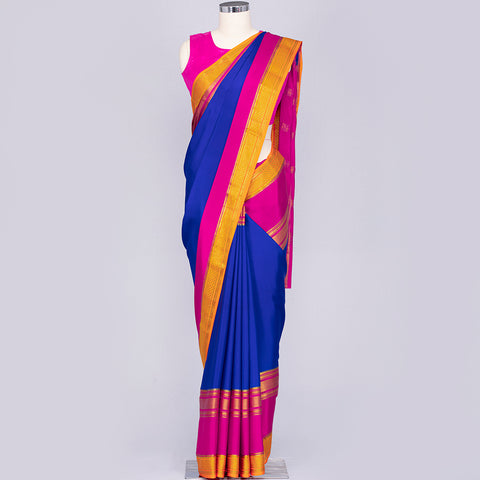 Royal Blue pure mysore silk saree