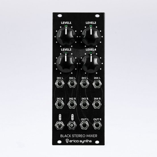 EricaSynths Black Stereo Mixer v3