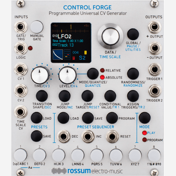 Rossum CONTROL FORGE (Programmable Universal CV Generator)