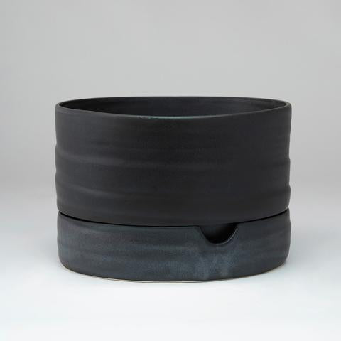 Self Watering Plant Pot : Mid Matt Black