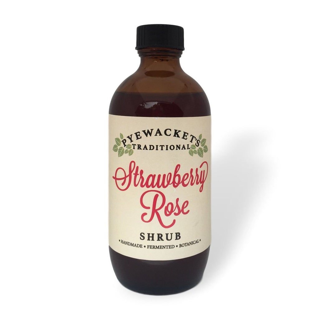 Strawberry Rose Shrub