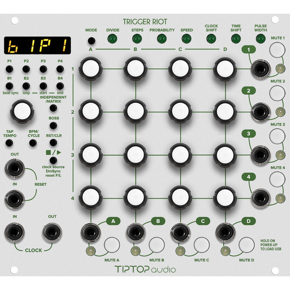 TipTop Audio Trigger Riot - Sequencer (White)