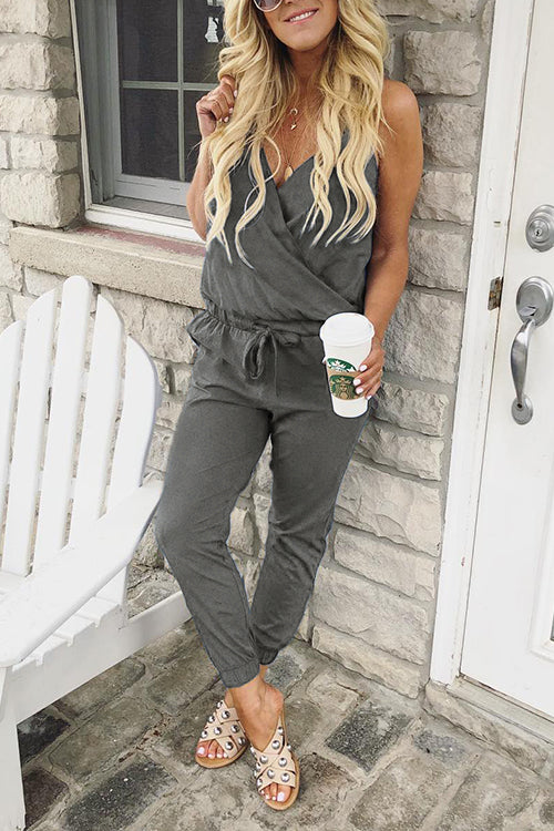 Viegal Casual V Neck One-piece Jumpsuits (6 colors)