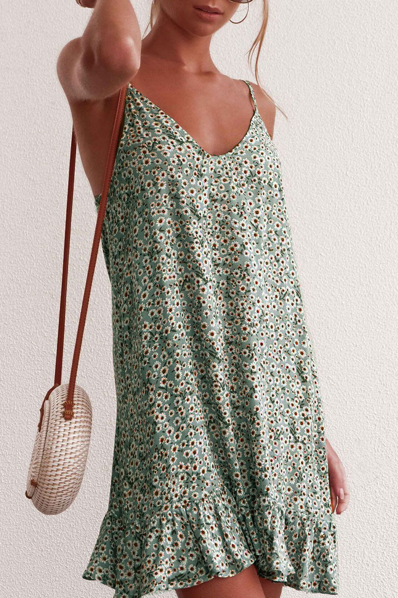 Viegal Floral Printed Sleeveless Dress