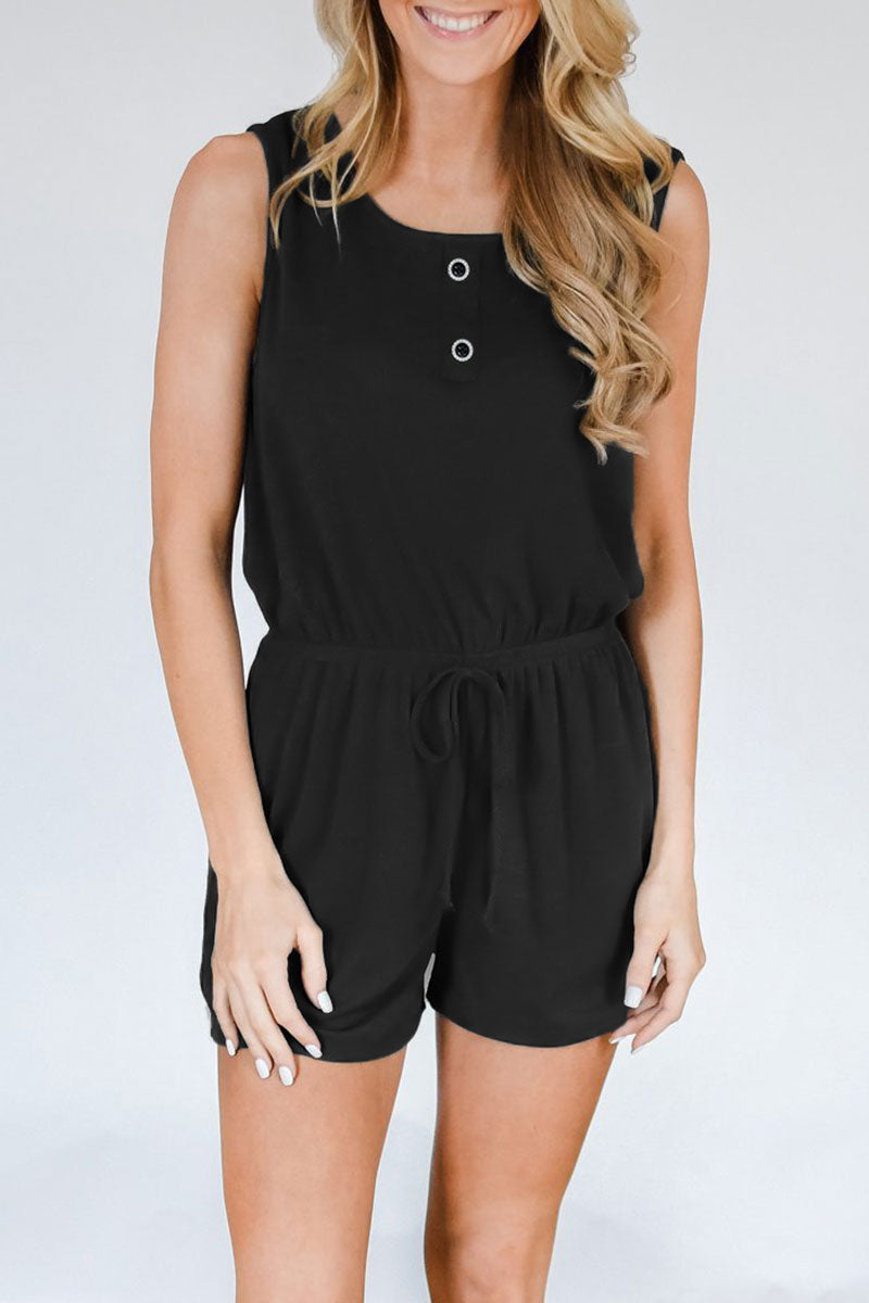 Viegal Casual Rompers(With Elastic) (3 colors)