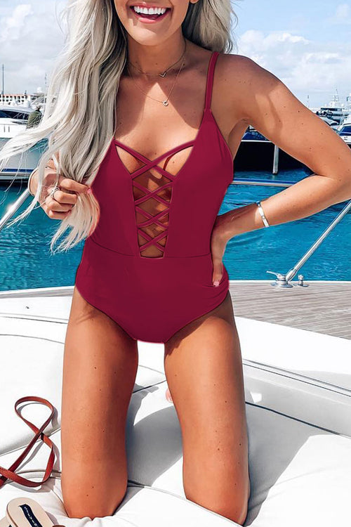 Viegal Hollow-out One-piece Swimwears (2 colors)