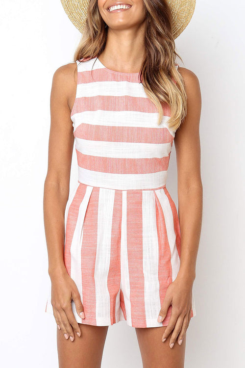 Viegal Casual Striped Rompers (4 colors)