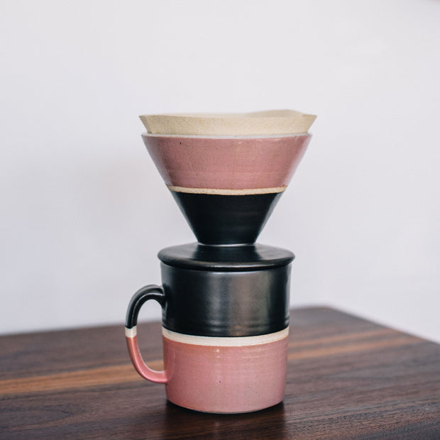 Hand Thrown Coffee Dripper (Rose)