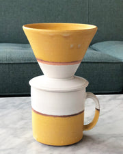 Hand Thrown Coffee Mug (Vanilla)