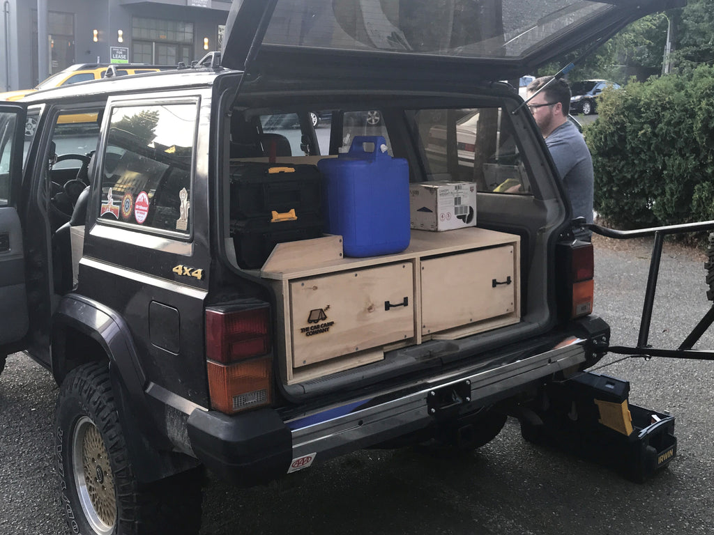 Car Camping Kit: 1989 Jeep Grand Cherokee