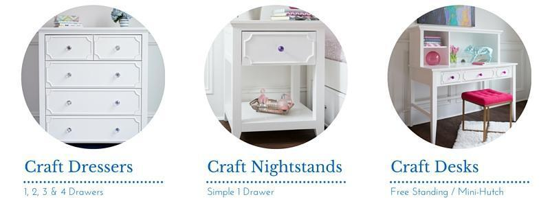 Introducing the Craft Collection: Kids Nightstands, Dressers & Desks