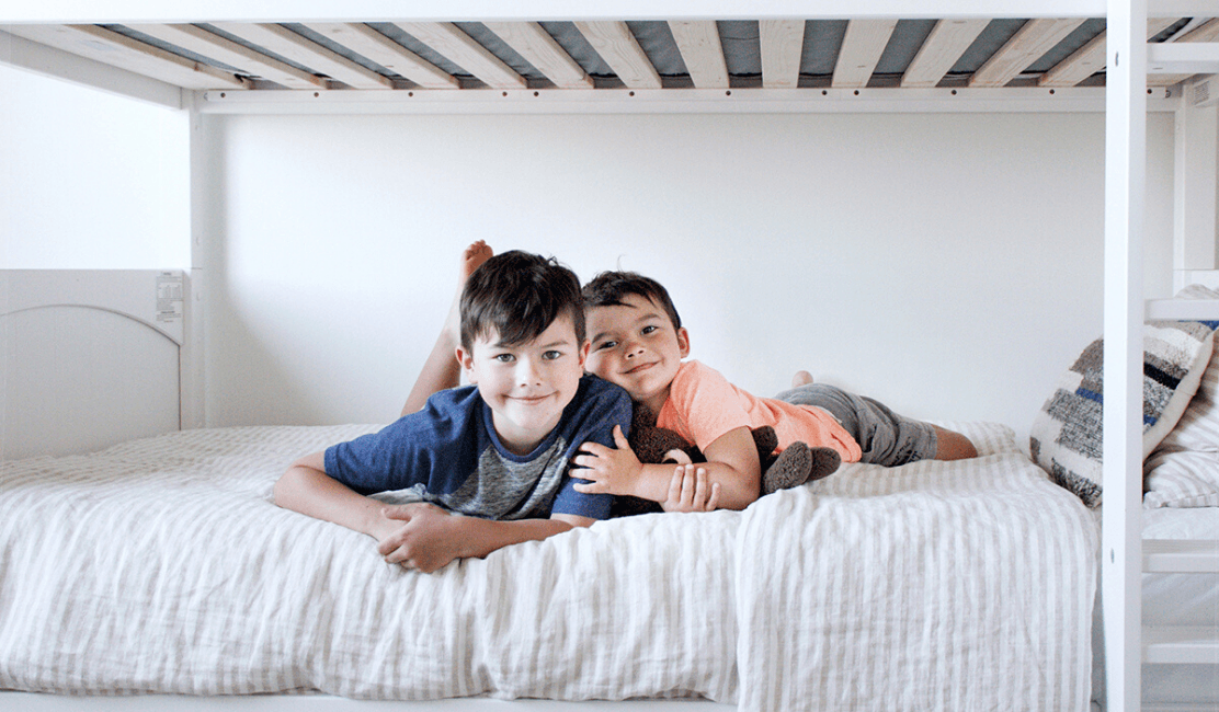 Chelsey Shares her Boys Rooms Inspiration with Classic Twin Bunk Beds